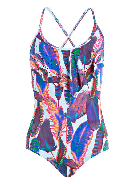PILYQ Badeanzug, Farbe: BLAU/ PINK/ PFLAUME (Bild 1)