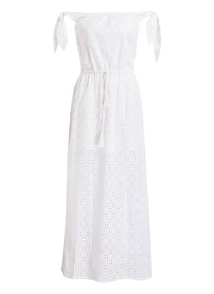 PAMPELONE Off-Shoulder-Strandkleid mit Lochstickerei, Farbe: WEISS (Bild 1)