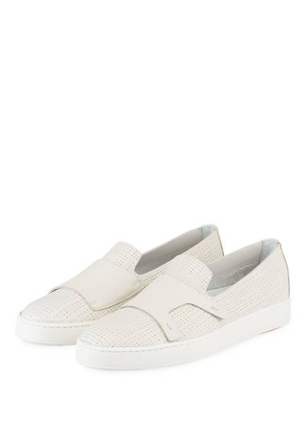 Santoni Sneaker, Farbe: WEISS (Bild 1)