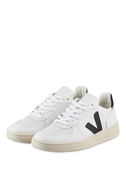 VEJA Sneaker V-10, Farbe: WEISS/ SCHWARZ (Bild 1)