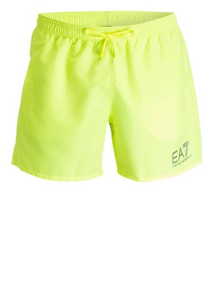 EA7 EMPORIO ARMANI Badeshorts, Farbe: NEONGELB (Bild 1)