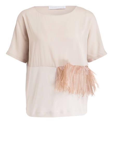 FABIANA FILIPPI T-Shirt mit Federbesatz , Farbe: BEIGE (Bild 1)