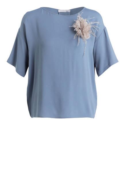 FABIANA FILIPPI Blusenshirt mit Seidenanteil, Farbe: BLAU (Bild 1)
