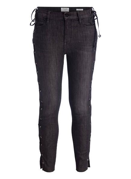 FRAME DENIM Jeans LE HIGH SKINNY, Farbe: FULT FULTON DARK GREY (Bild 1)