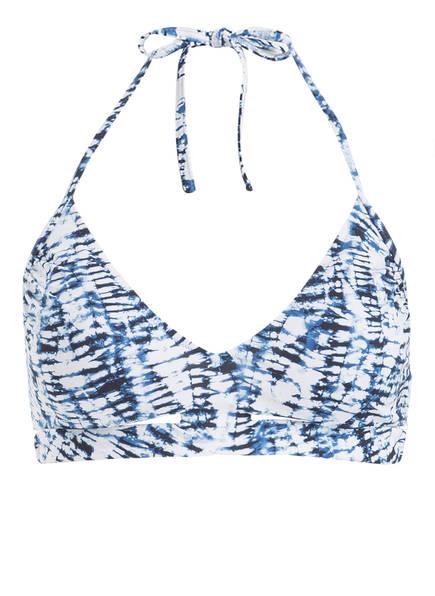 watercult Neckholder-Bikini-Top BATIK TWIST, Farbe: BLAU/ WEISS (Bild 1)