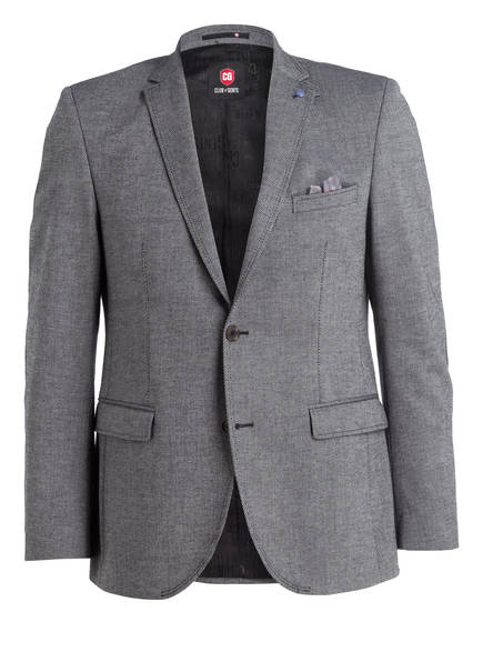 CG CLUB of GENTS Sakko AMBER Tailored Fit, Farbe: GRAU MELIERT (Bild 1)