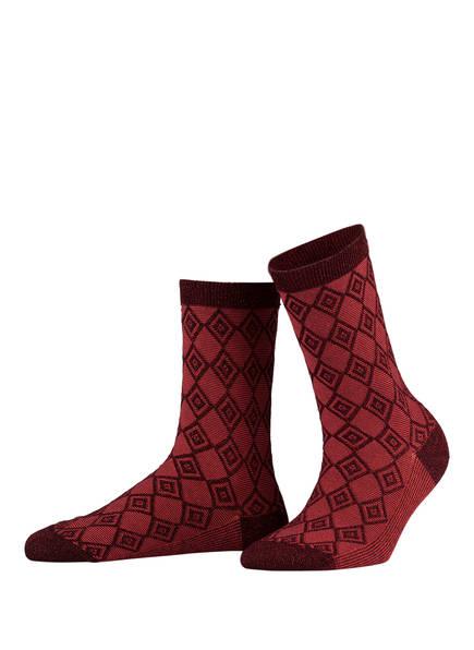 Burlington 3er-Pack Socken, Farbe: ROT/ BORDEAUX (Bild 1)