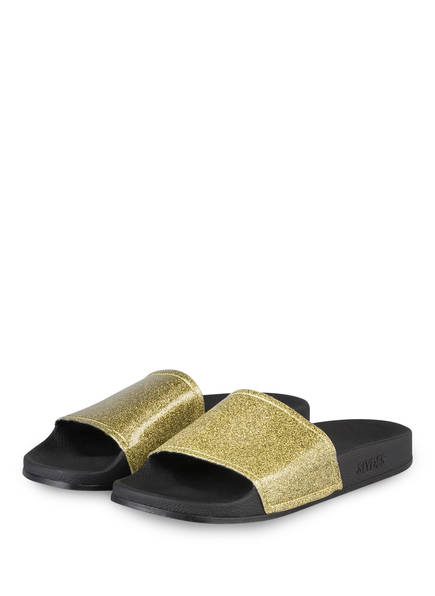 SLYDES Sandalen CHAMPAGNE GLITTER, Farbe: GOLD (Bild 1)