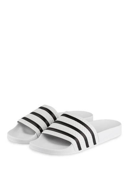 adidas Originals Sandalen ADILETTE, Farbe: WEISS/ SCHWARZ (Bild 1)
