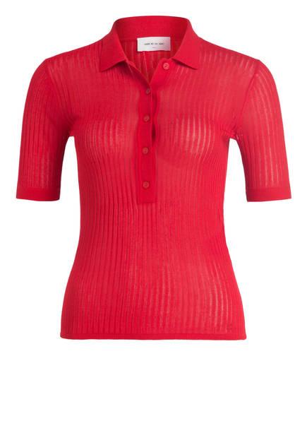 WOOD WOOD Strick-Poloshirt ROMA, Farbe: ROT (Bild 1)