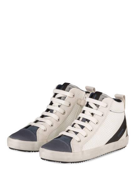hightop sneaker von geox bei breuninger kaufen  geox hightop sneaker, farbe weiss navy (bild 1)