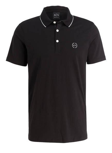 ARMANI EXCHANGE Jersey-Poloshirt, Farbe: SCHWARZ (Bild 1)