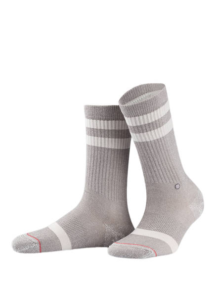 STANCE Socken CLASSIC UNCOMMON CREW, Farbe: GRAU/ WEISS (Bild 1)