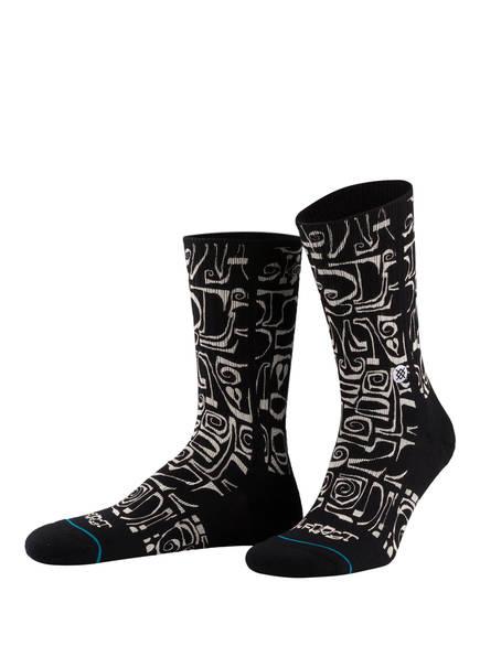 STANCE Socken FROST LETTERS, Farbe: SCHWARZ/ WEISS (Bild 1)