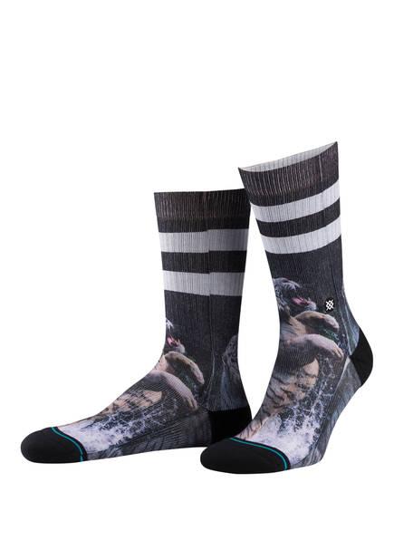 STANCE Socken KHAN, Farbe: SCHWARZ/ LILA (Bild 1)