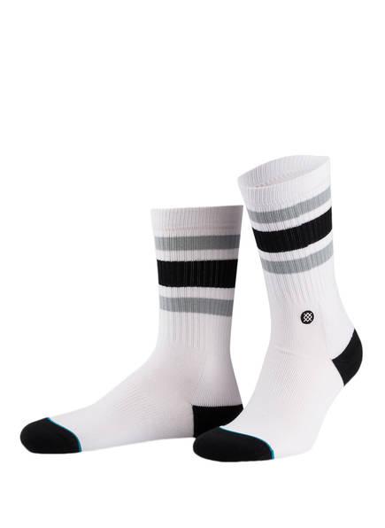 STANCE Socken BOYD 4, Farbe: WEISS/ SCHWARZ (Bild 1)
