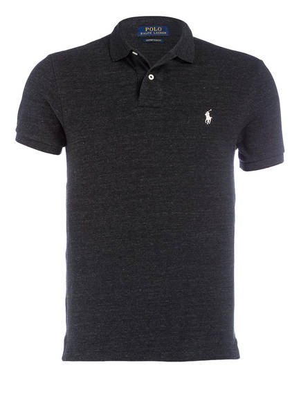 POLO RALPH LAUREN Piqué-Poloshirt Custom Slim Fit, Farbe: ANTHRAZIT MELIERT (Bild 1)