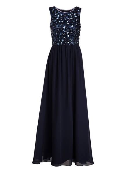 unique Abendkleid mit Stola, Farbe: MARINE (Bild 1)