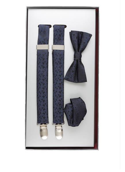PAUL Set: Hosenträger, Schleife und Einstecktuch, Farbe: NAVY (Bild 1)