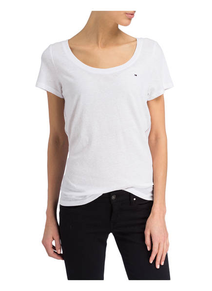 Tommy Tommy Jeans T shirt Jeans T Weiss shirt Weiss 5XwTqngI