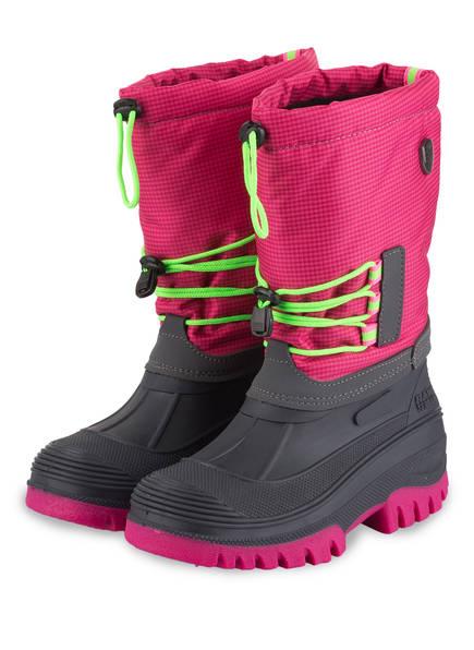 CMP Boots ATHO mit herausnehmbarem Innenschuh , Farbe: PINK/ NEONGRÜN/ GRAU (Bild 1)