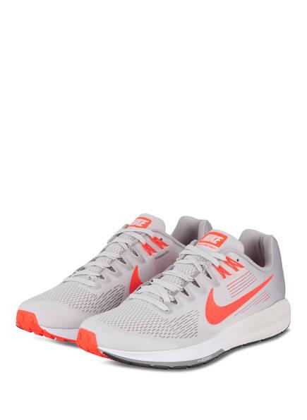 Nike Laufschuhe AIR ZOOM STRUCTURE 21 , Farbe: GRAU/ ORANGE  (Bild 1)