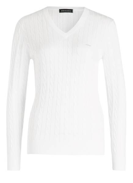 RÖHNISCH Pullover CABLE, Farbe: WEISS (Bild 1)