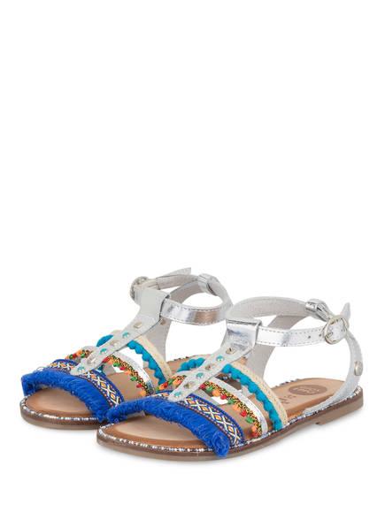 GIOSEPPO Sandalen, Farbe: SILBER/ BLAU (Bild 1)