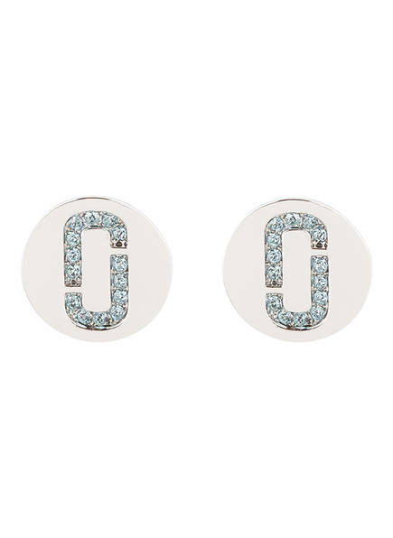 MARC JACOBS Ohrstecker DOUBLE J, Farbe: SILBER/ HELLBLAU (Bild 1)
