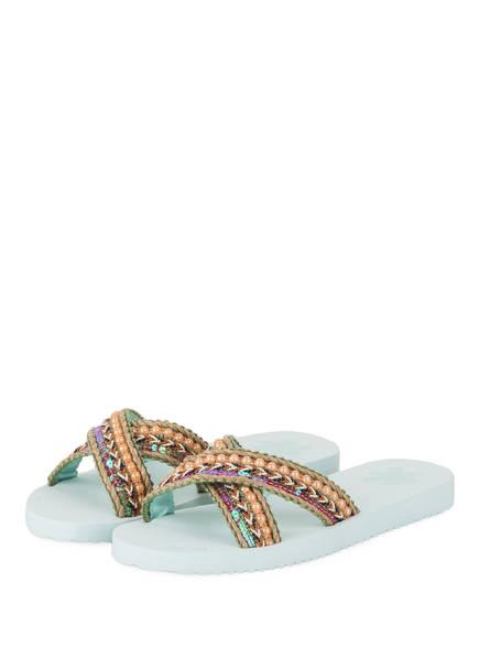 flip*flop Sandalen IBIZA mit Pailetten- und Schmucksteinbesatz, Farbe: MINT (Bild 1)
