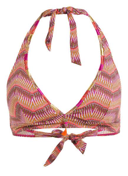 Aubade Neckholder-Bikini-Top, Farbe: PINK/ ORANGE/ WEISS (Bild 1)