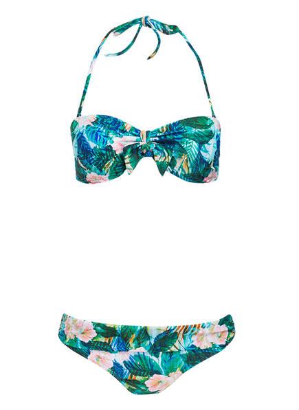 Hot Stuff Bandeau-Bikini , Farbe: GRÜN/ TÜRKIS/ ROSA (Bild 1)