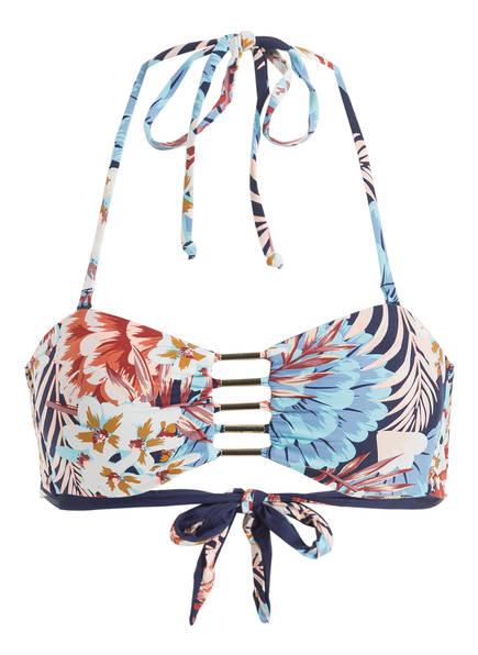 Skiny Sunset Glamour Bandeau-Bikini-Top TAHITI , Farbe: BLAU/ ROSE (Bild 1)