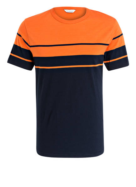 SAMSØE & SAMSØE T-Shirt SASK, Farbe: NAVY/ ORANGE (Bild 1)