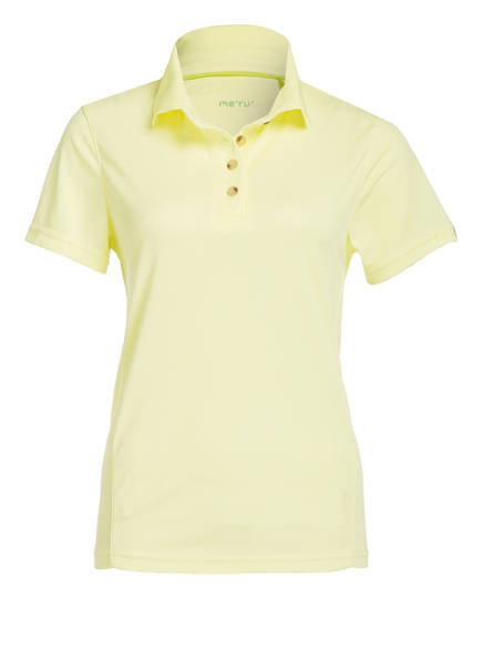 me°ru' Funktions-Poloshirt WEMBLEY , Farbe: GELB (Bild 1)