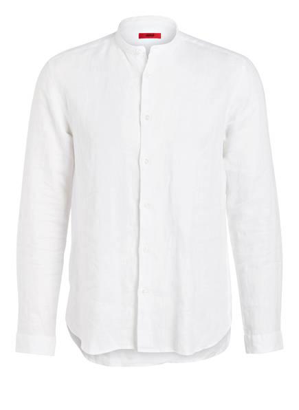 HUGO Leinenhemd EDDISON Relaxed Fit, Farbe: WEISS (Bild 1)
