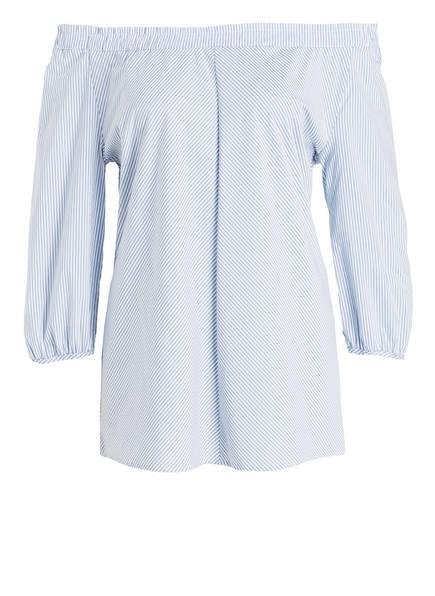 Betty Barclay Off-Shoulder-Bluse, Farbe: HELLBLAU/ WEISS GESTREIFT (Bild 1)