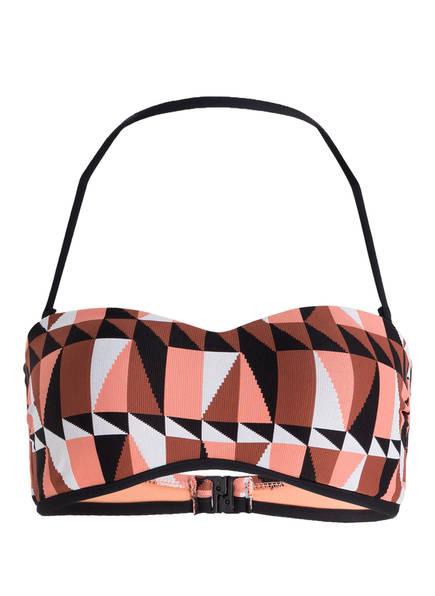 SEAFOLLY Bandeau-Bikini-Top JAGGED GEO, Farbe: KUPFER/ SCHWARZ/ WEISS (Bild 1)