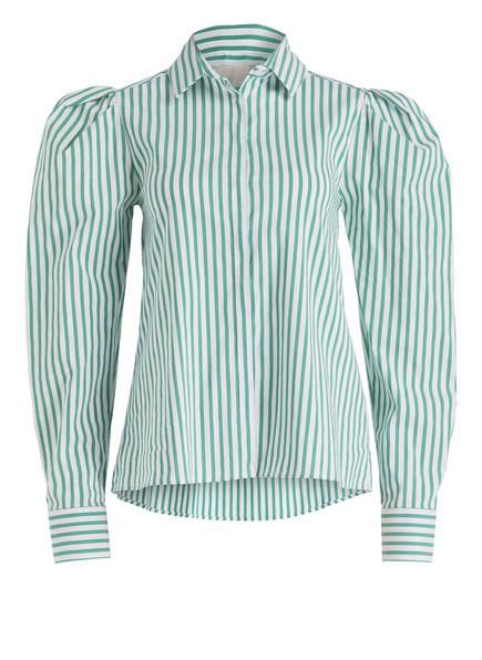 Mrs & HUGS Bluse, Farbe: GRÜN/ WEISS GESTREIFT (Bild 1)