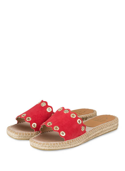 kanna Sandalen im Espadrilles-Stil, Farbe: ROT (Bild 1)