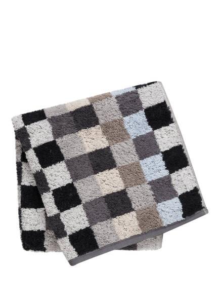 Cawö Handtuch UNIQUE KARO, Farbe: ANTHRAZIT/ BEIGE/ SCHWARZ  (Bild 1)