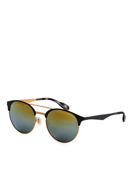 Ray-Ban Sonnenbrille RB3545 HIGHSTREET, Farbe: 9007A7 - GOLD/ GRAU/ GOLD VERLAUF VERSPIEGELT (Bild 1)