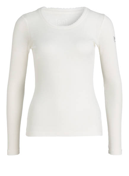 super.natural Funktionswäsche-Shirt SCARLETT mit Merinowolle-Anteil , Farbe: WEISS (Bild 1)