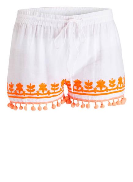 TERRE ROUGE Shorts, Farbe: WEISS/ NEONORANGE (Bild 1)