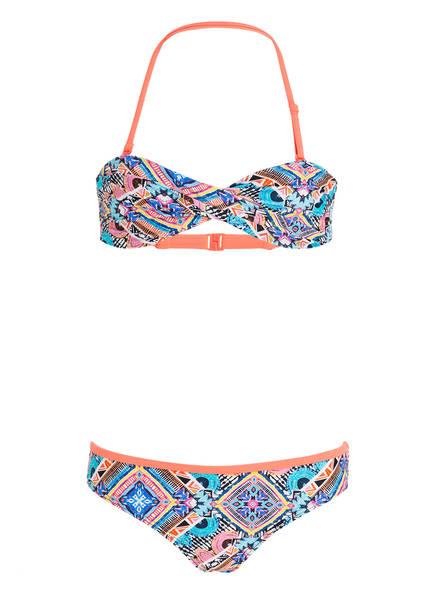 Hot Stuff Bandeau-Bikini , Farbe: KORALLE/ TÜRKIS (Bild 1)
