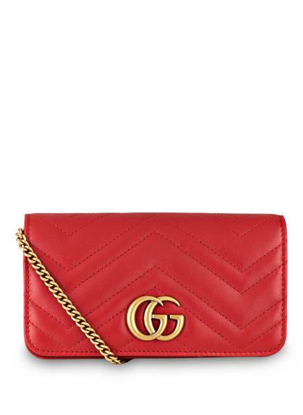 GUCCI Umhängetasche GG MARMONT, Farbe: HIBISCUS RED (Bild 1)