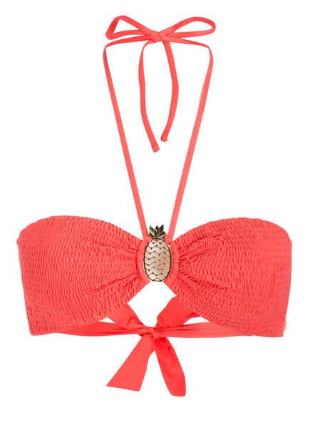 watercult Bandeau-Bikini-Top SUMMER SOLIDS, Farbe: KORALLE (Bild 1)