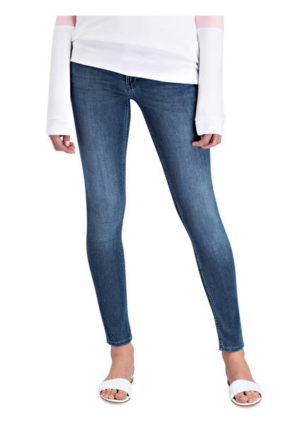 Blue Rich Denim amp;royal Satin Skinny jeans nY1xtXZrx