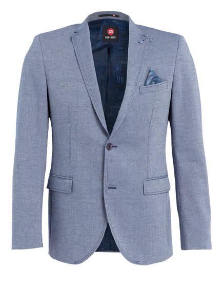 CG CLUB of GENTS Sakko AMBER Tailored Fit, Farbe: DUNKELBLAU/ WEISS (Bild 1)