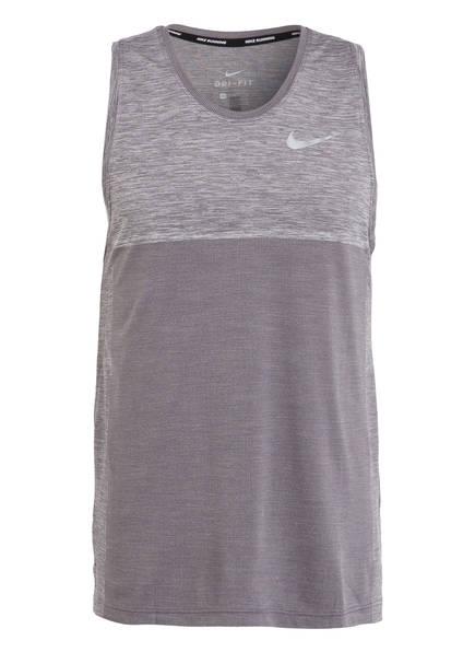 Nike Tanktop MEDALIST, Farbe: GRAU MELIERT  (Bild 1)